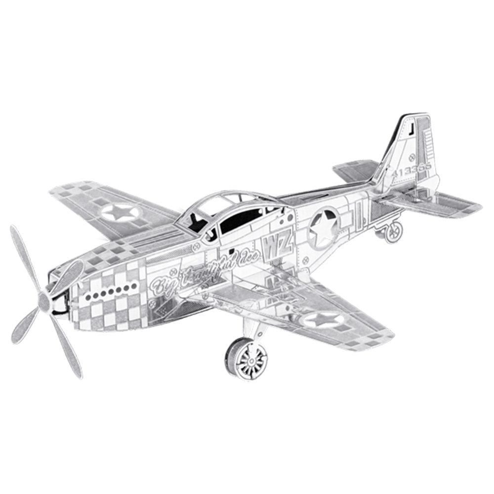 Metal Earth, 3D Model Kit, Metal, P-51 Bomber