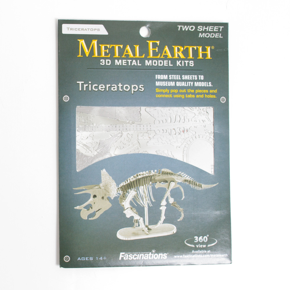 Metal Earth Model Kit Triceratops Skeleton