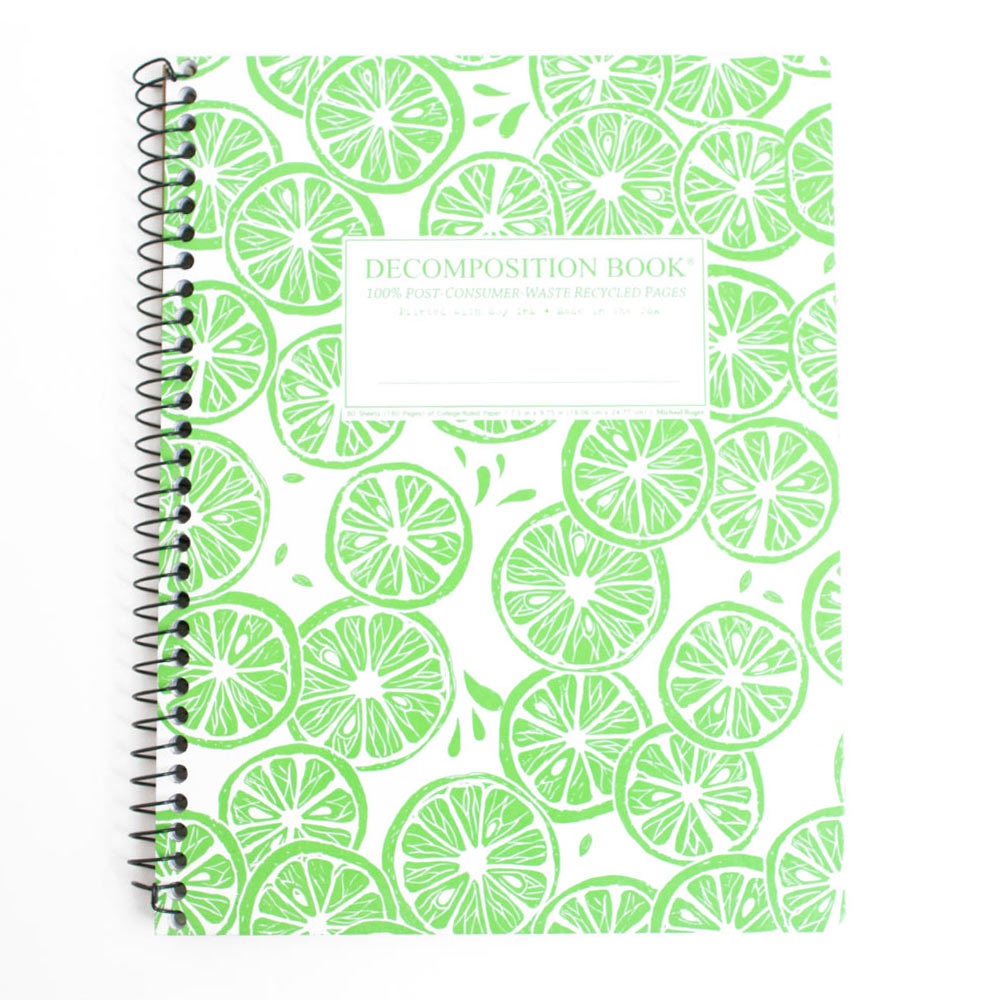"Michael Roger Press, Decomp Book, 9""x7"", Limes"