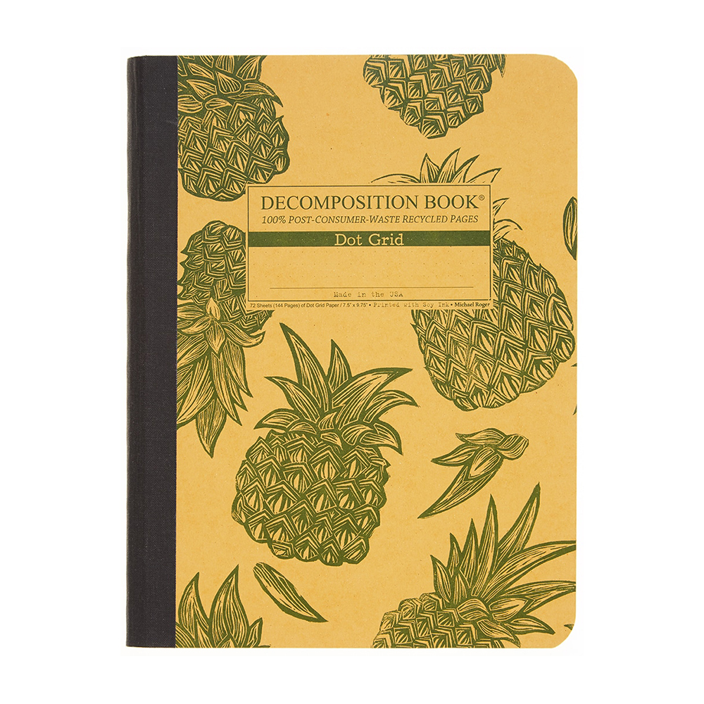 "Michael Roger Press, Decomp Book, 9""x7"", Pineapples"