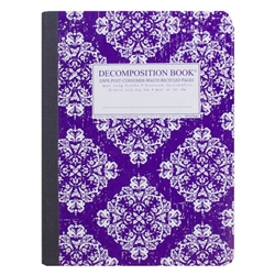 Michael Roger Press Decomp Book Purple Victorian 9 x7