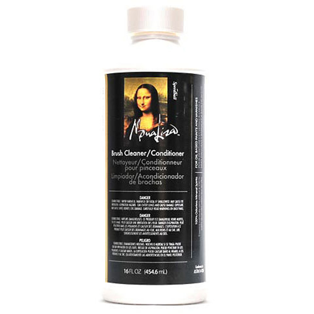 Mona Lisa, Brush Cleaning, Fluid