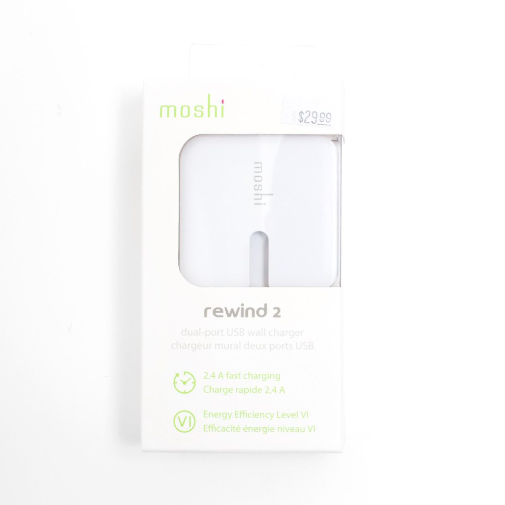 Moshi, Rewind 2, USB Wall Charger