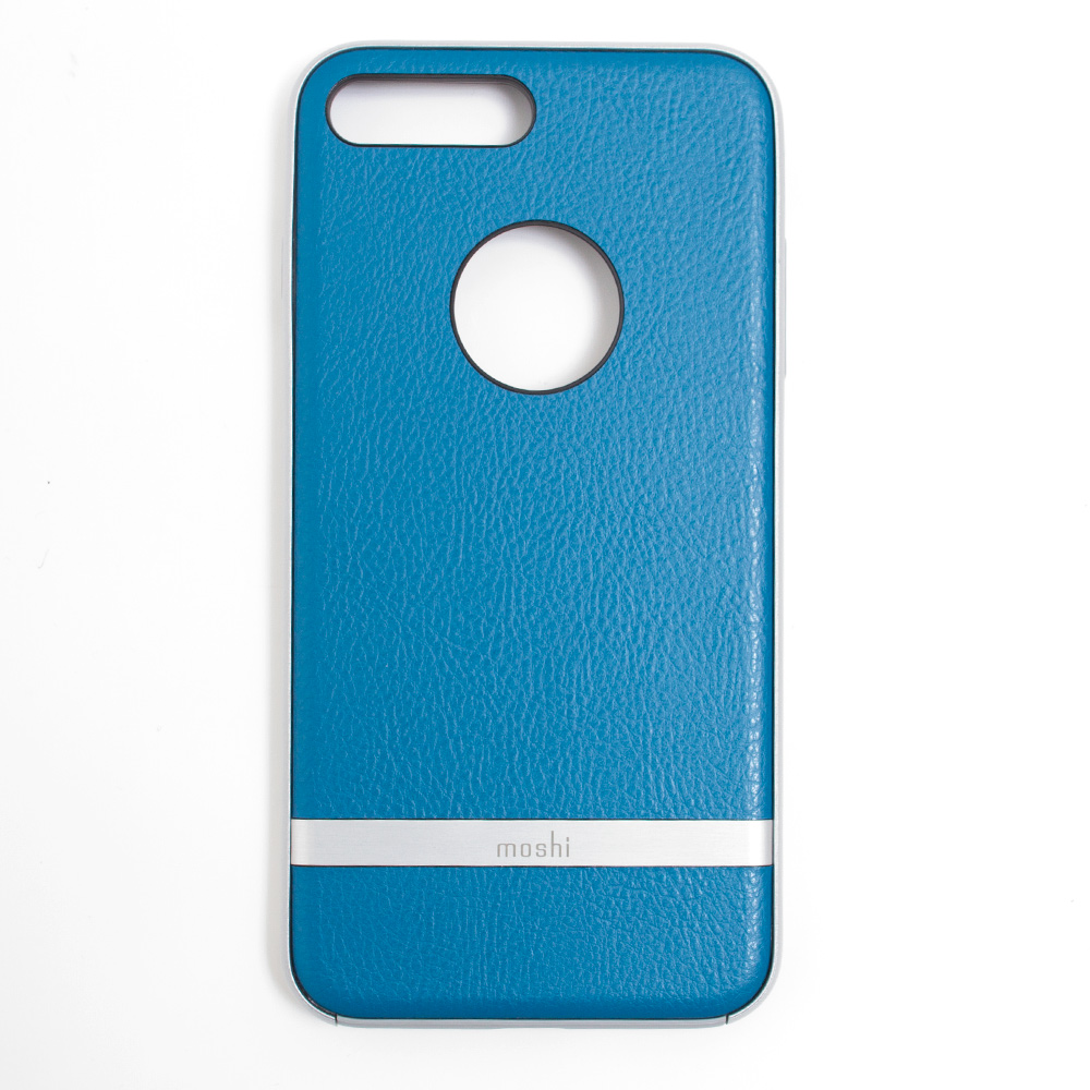 Moshi, Napa, Vegan Leather, Case, iPhone 7+, Blue