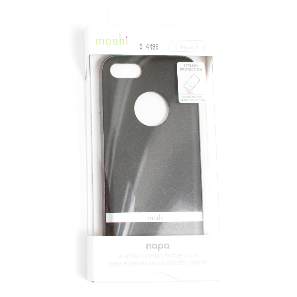 Moshi Napa Vegan Leather Case For iPhone 7_Black