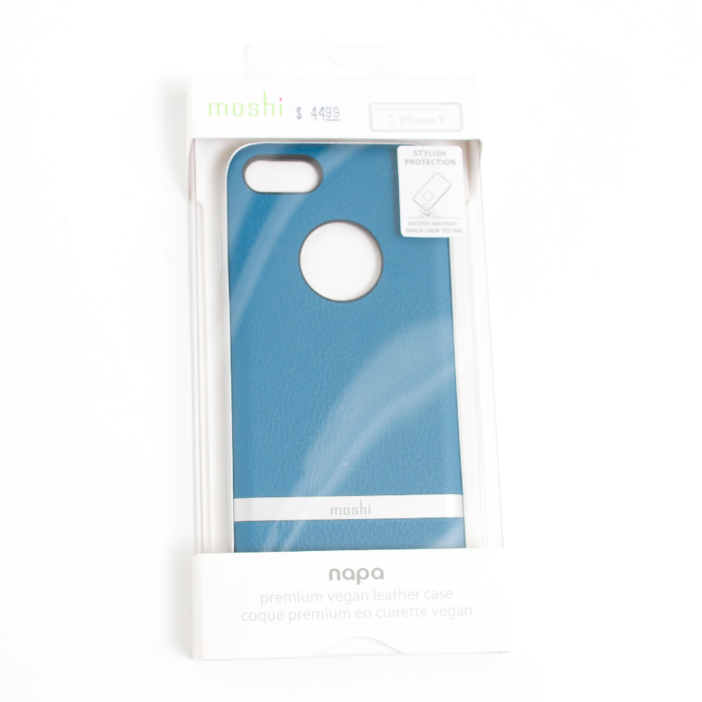 Moshi Napa Vegan Leather Case For iPhone 7_Blue