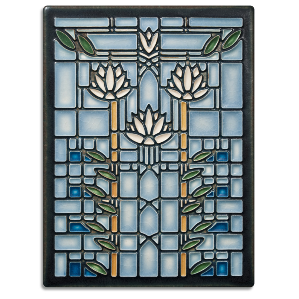 Motawi, Tile, Ceramic, Waterlillies