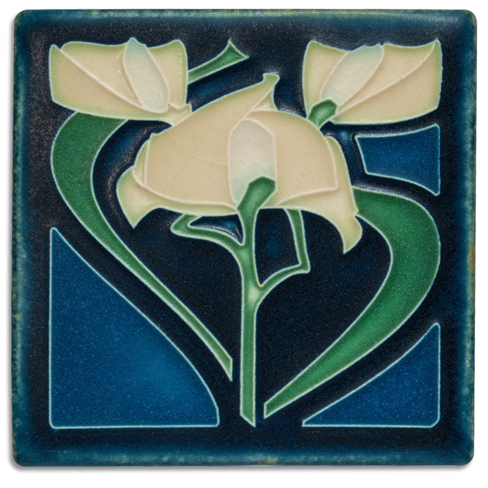 Motawi, Tile, Ceramic, Freesia