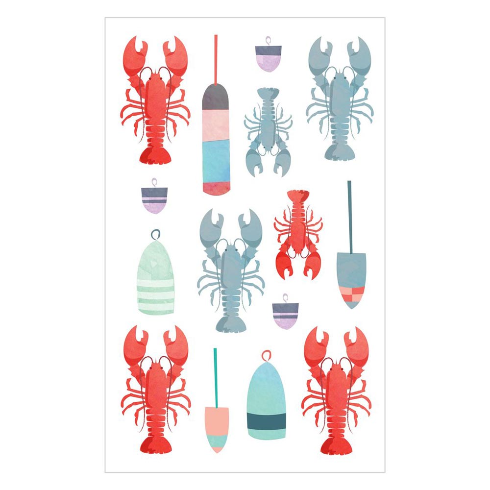 Mrs Grossman's, Stickers, Watercolor Lobsters