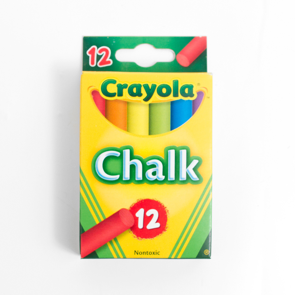 Multicolor Crayola Chalk 12 Sticks