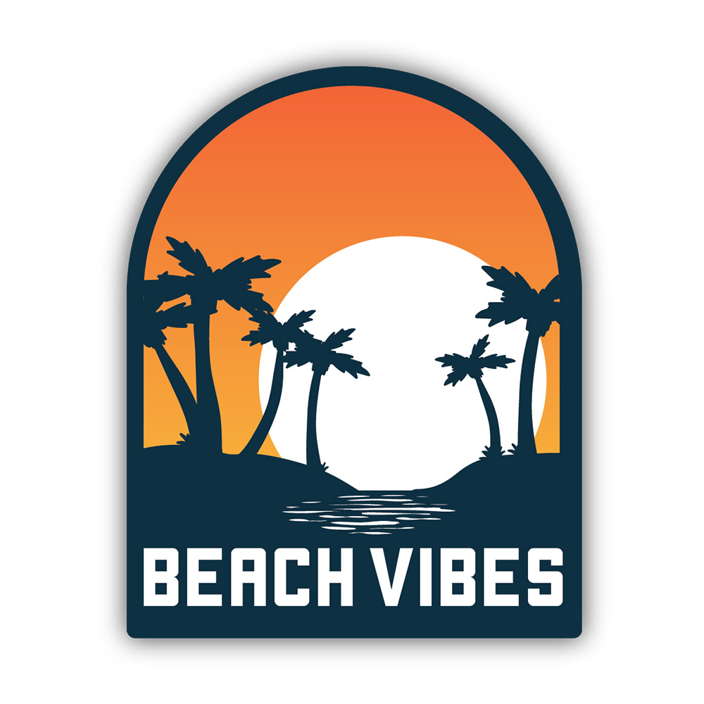 NW, Beach Vibes, Sticker