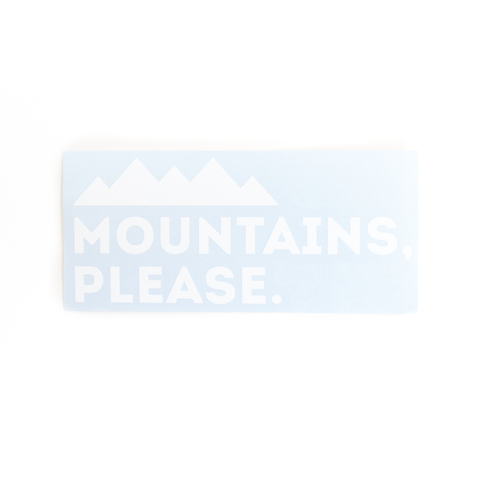 Sticker, Northwest Theme, Mountains Please