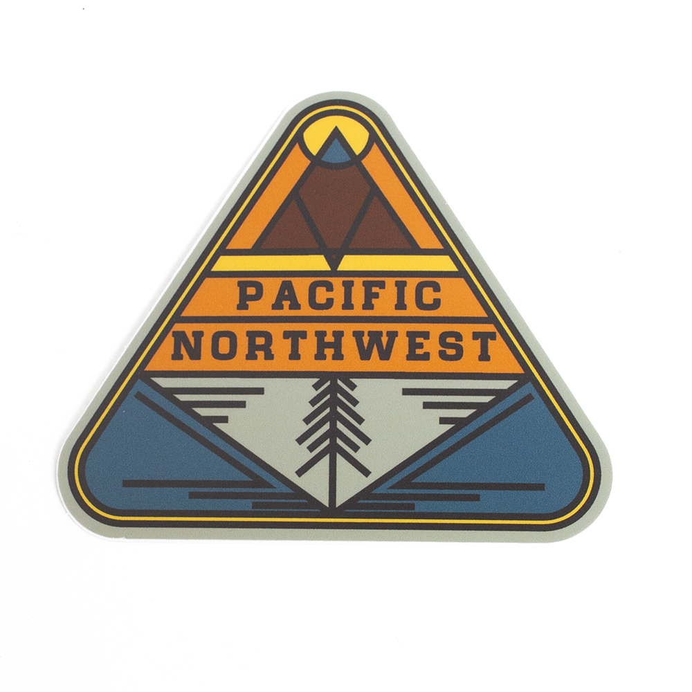 Sticker, Northwest Theme, Triangle, PNW
