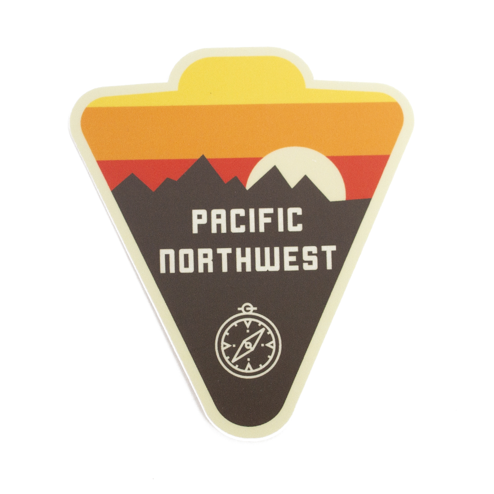 Sticker, Northwest Theme, Horizon, PNW