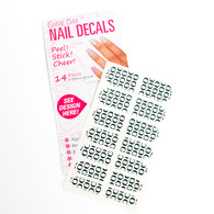 Nail Decals White Forest Green O