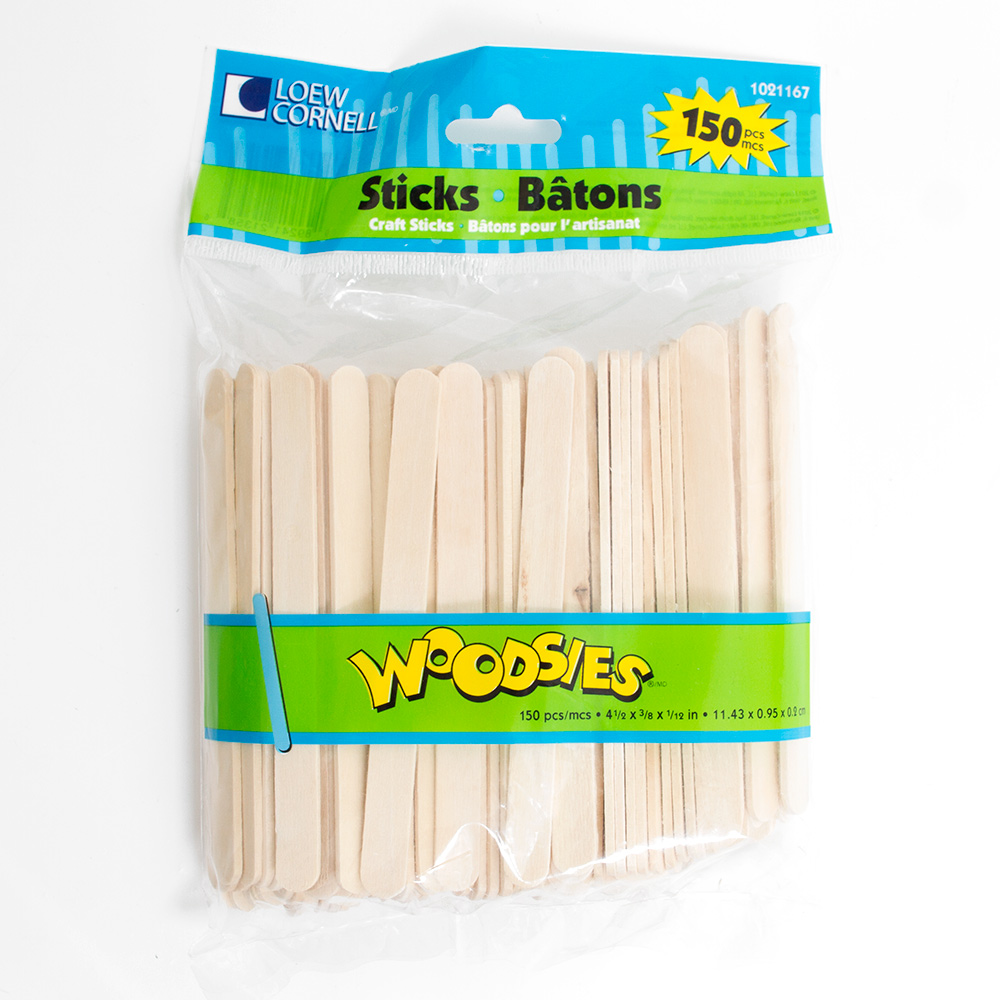 Natural Forster Woodsies Craft Sticks 150pc