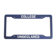 College, Undeclared, License Frame