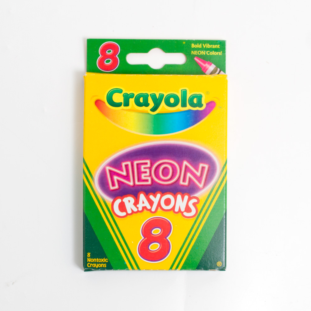 Neon Crayola Crayon 8 Color Box