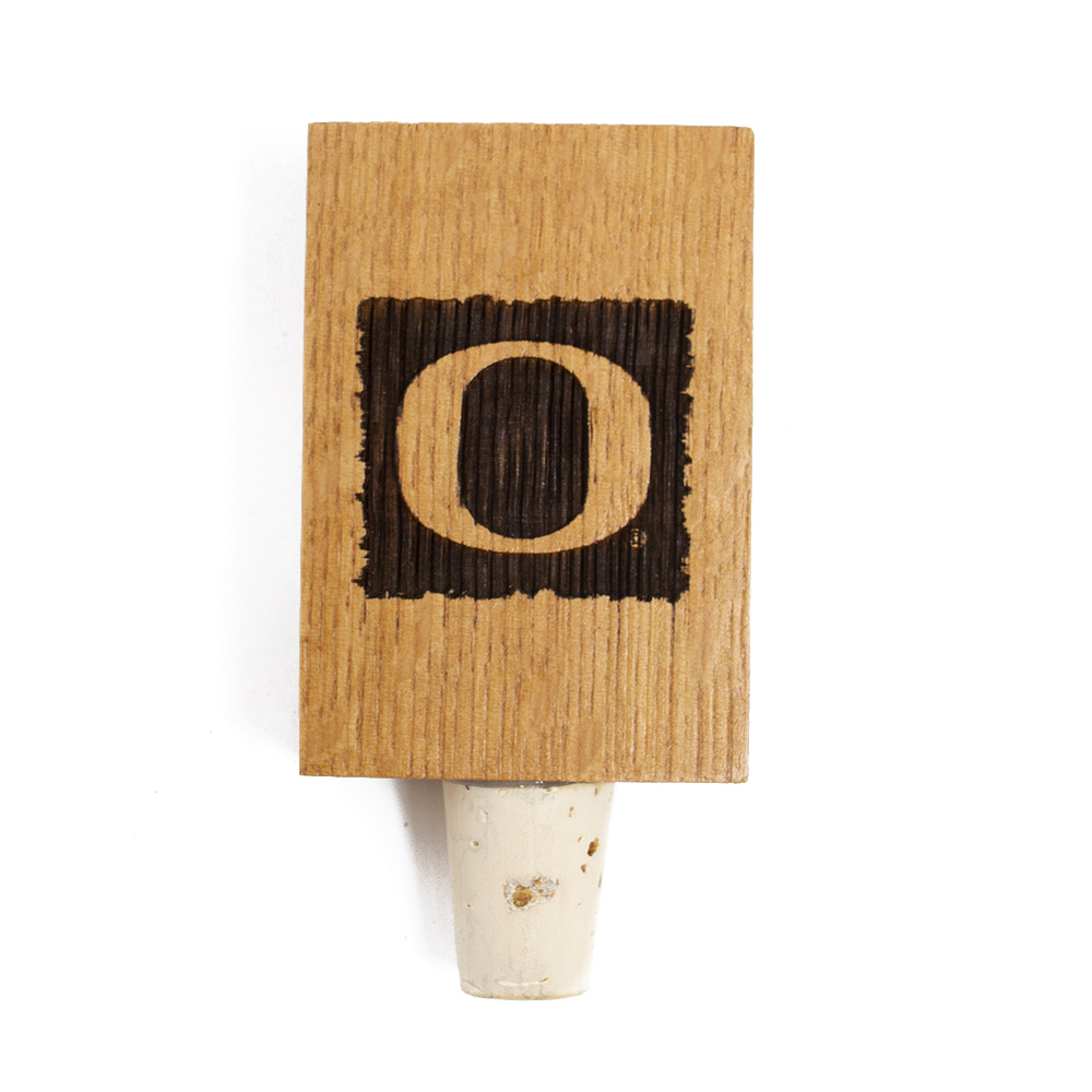 Classic Oregon O, Barrel Stave, Bottle Stop
