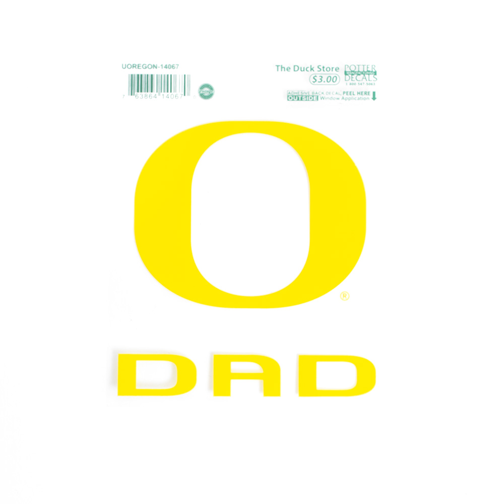 Classic Oregon O, Dad, Decal