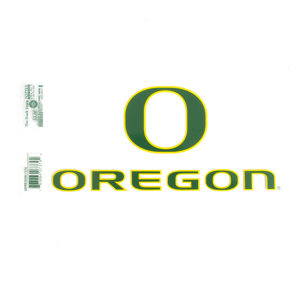 Classic Oregon O, Oregon, Outside Application, Decal