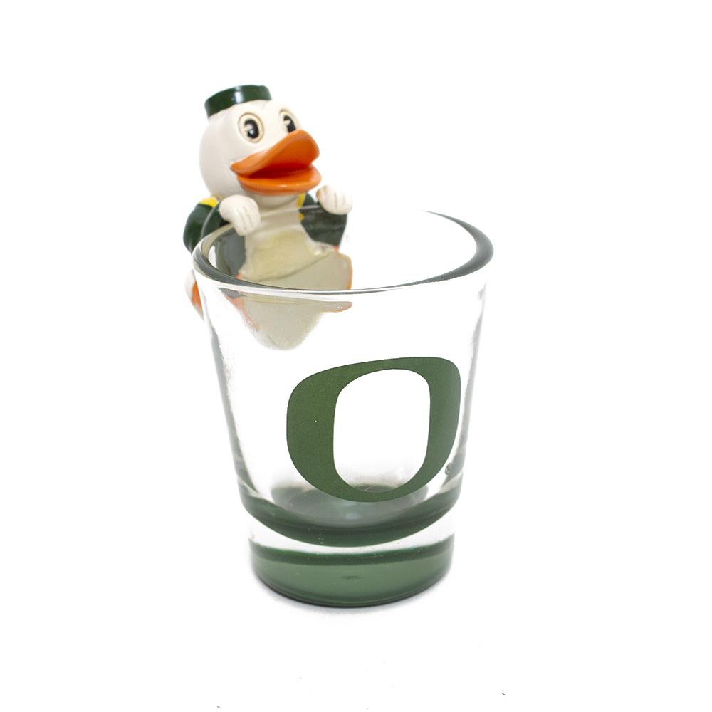 Fighting Duck, O-logo, Shot Glass