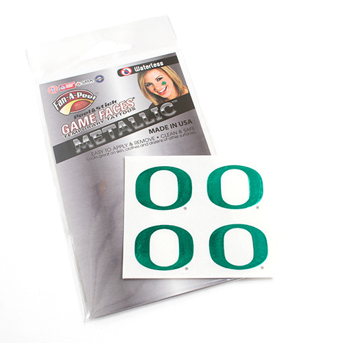 O-logo, Face Tattoo, Green