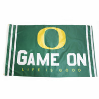 O-logo, Game On, Life is Good, 3'x5', Flag