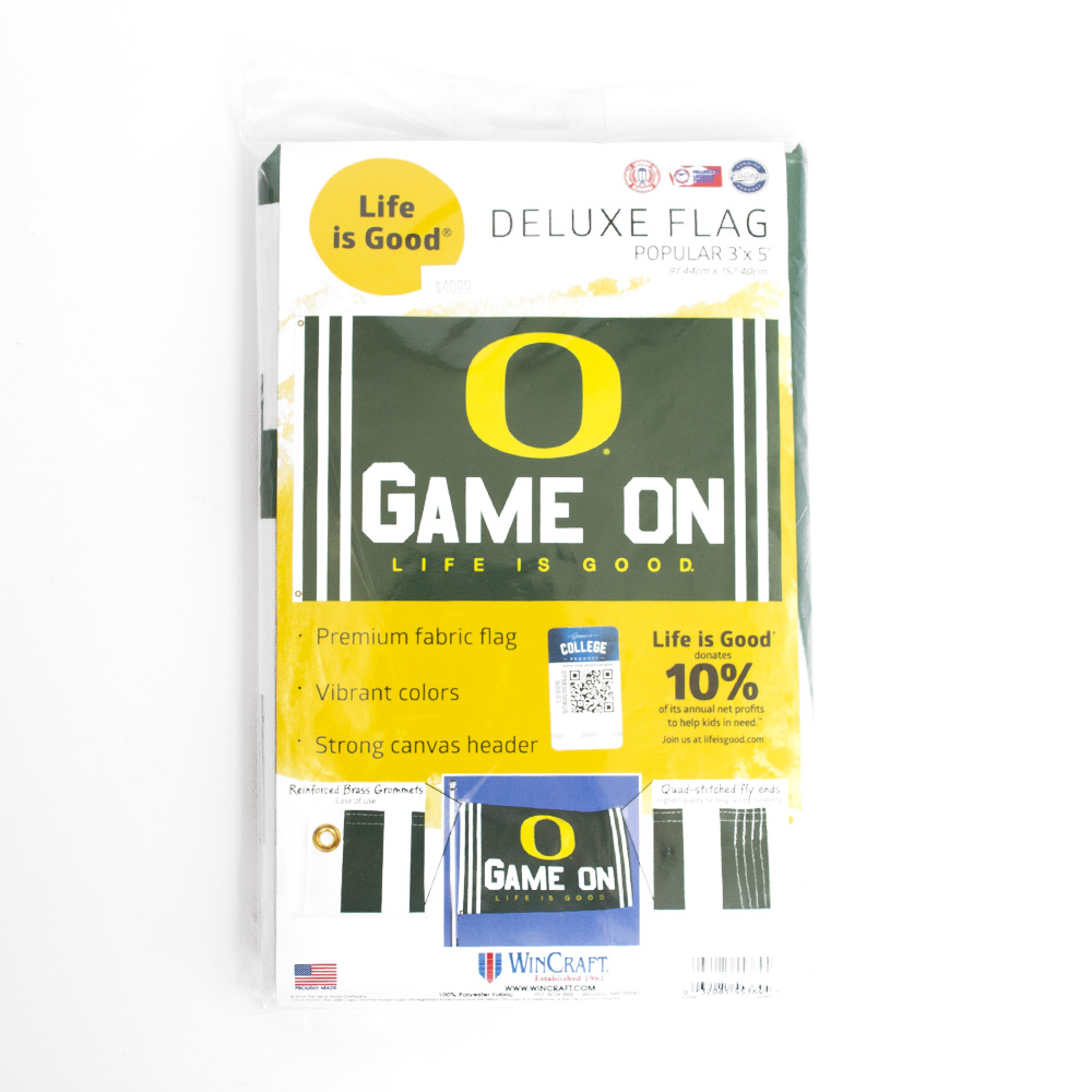 O-logo, Game On, Life is Good, 3'x5', Flag, Package