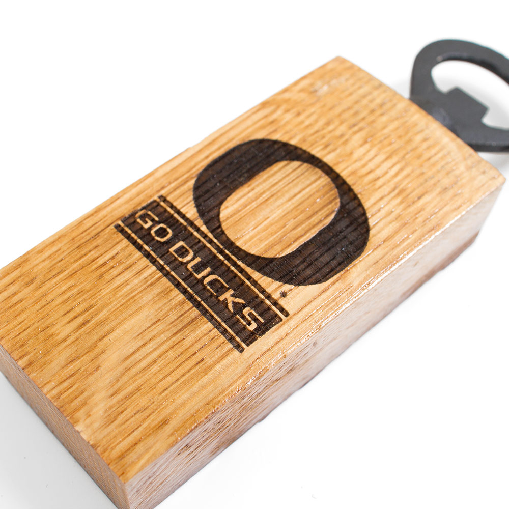 O-logo, Go Ducks motto, Bottle Opener