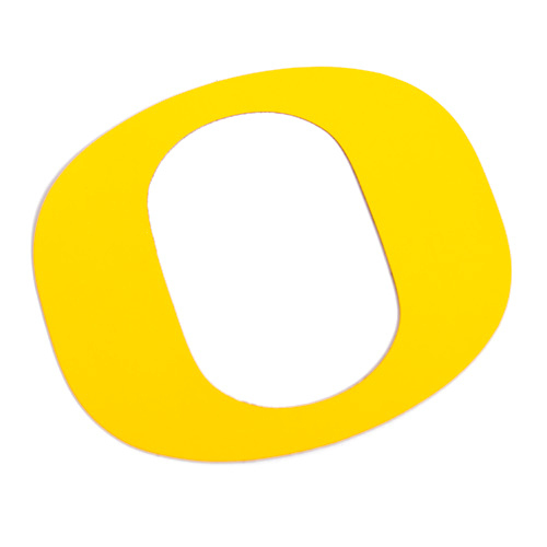 O-logo, Laser Cut, Magnet, Yellow