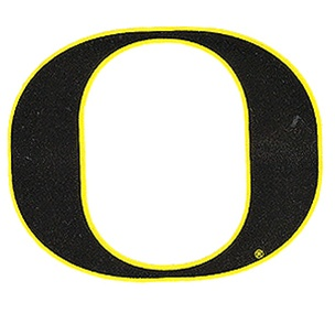 Classic Oregon O, Outside, Decal, 4""