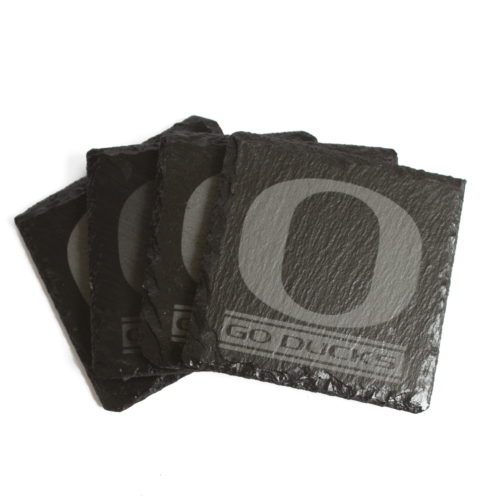 Classic Oregon O, Slate, Coaster Pack
