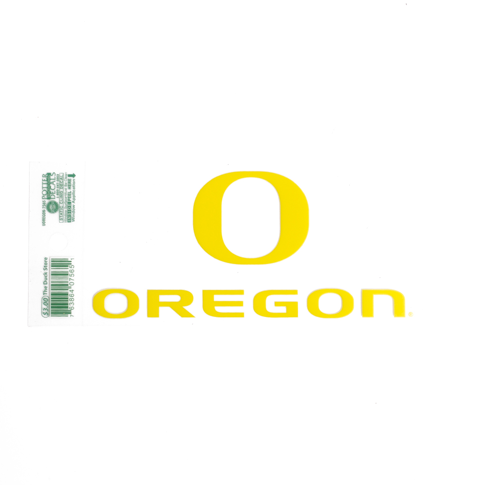 Classic Oregon O, Oregon, Decal, Gold