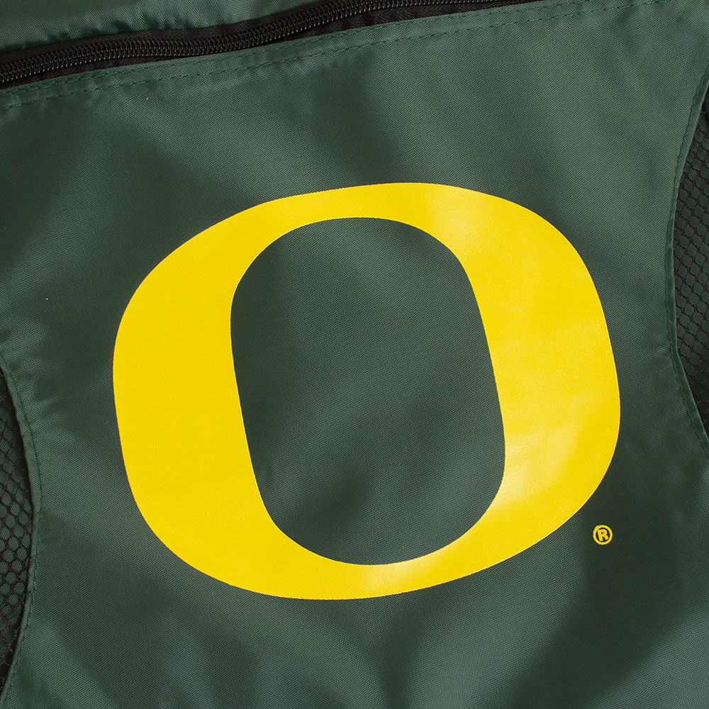 Classic Oregon O, String Bag, Forest Green, Detail