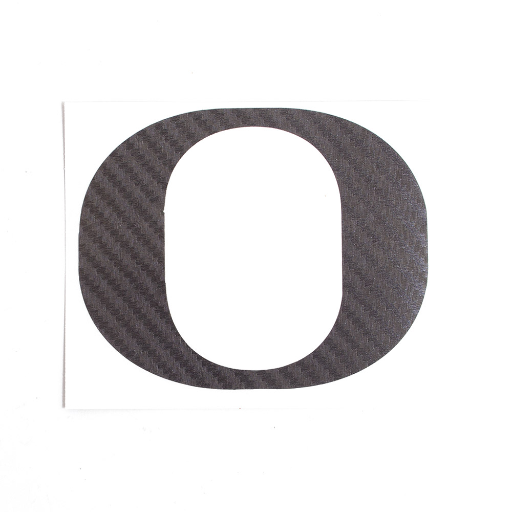 Classic Oregon O, Vinyl Transfer, Decal, Carbon Fiber