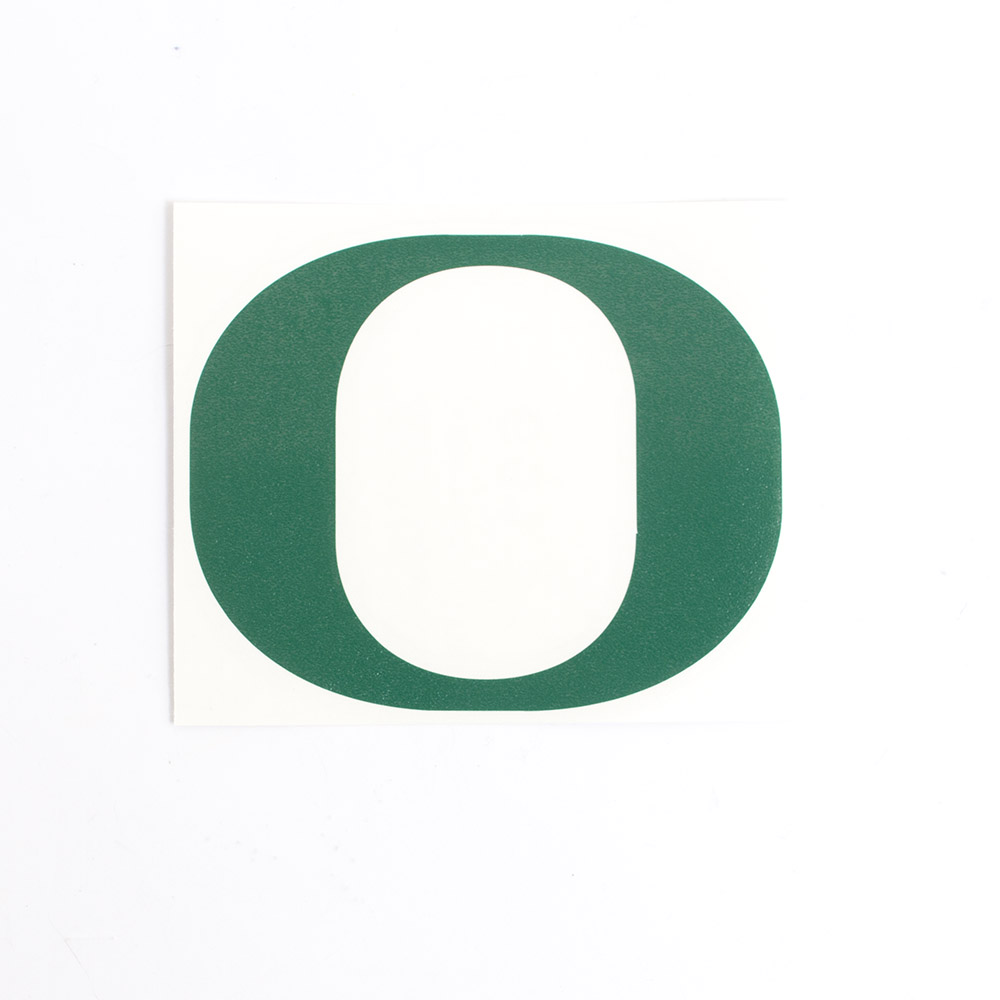 Classic Oregon O, Vinyl Transfer, Decal, Forest