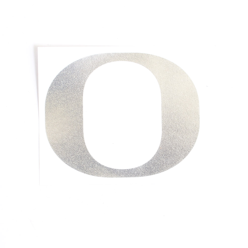 Classic Oregon O, Vinyl Transfer, Decal, Silver