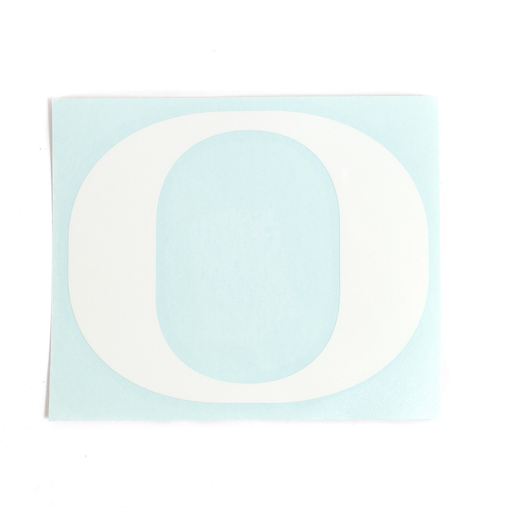 Classic Oregon O, Vinyl Transfer, Decal, White