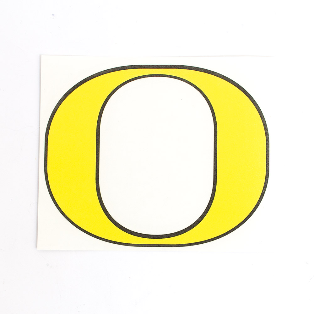 Classic Oregon O, Vinyl Transfer, Decal, Yellow and Black