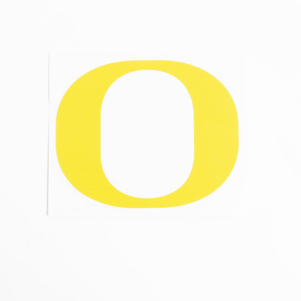 Classic Oregon O, Vinyl Transfer, Decal, Yellow