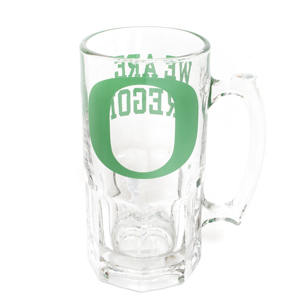 Classic Oregon O, We Are Oregon, Glass, Tankard