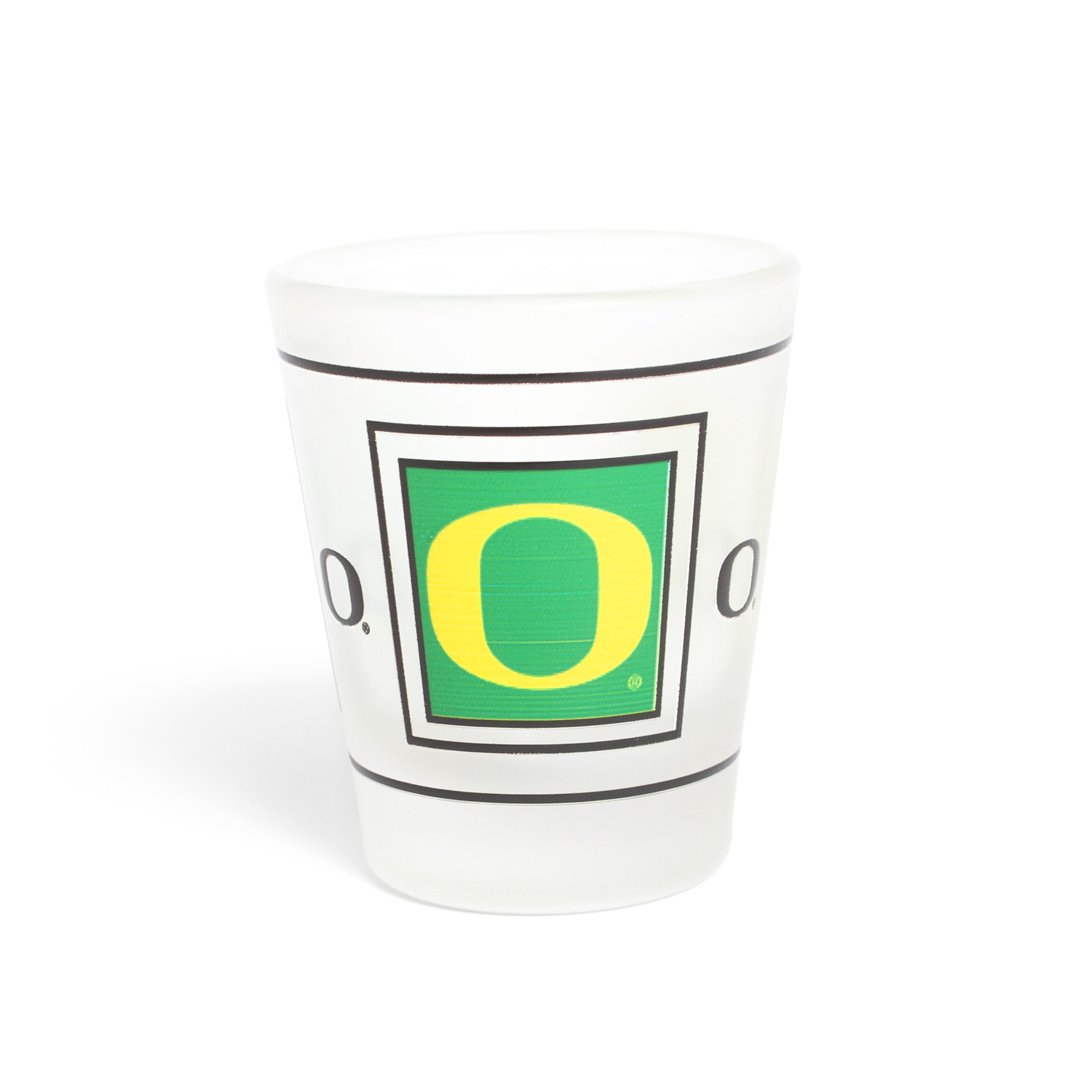 O-logo, 1.5 ounce, Frosted, Glass, Shot