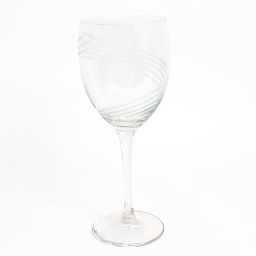 O-logo, Wine Glass, Swirl Pattern