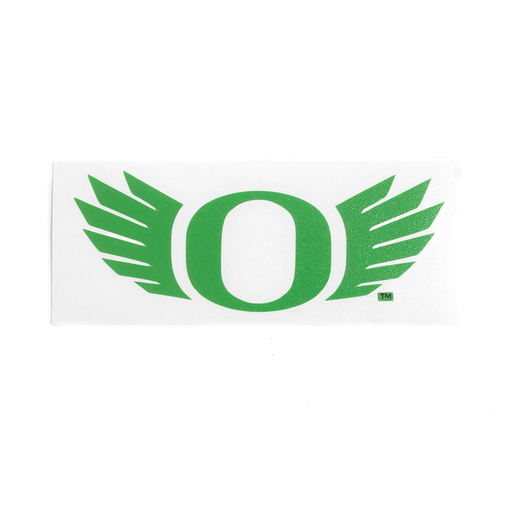 Classic Oregon O, O Wing, Vinyl, Transfer Decal, Green