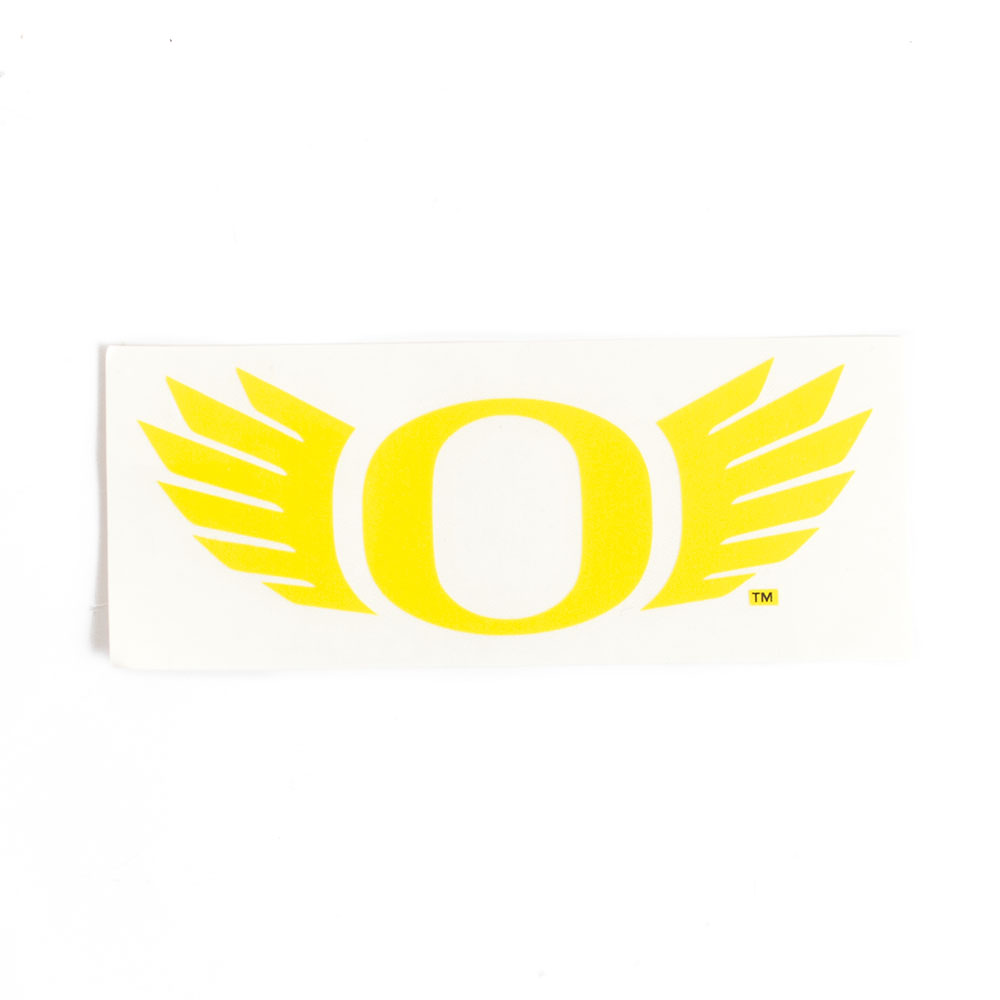 Classic Oregon O, O Wings, Decal, Transfer, Yellow