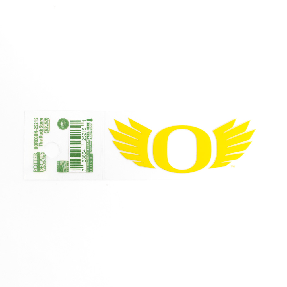 O-logo, WINGS, 3 inch, Decal, Outside Application, Yellow