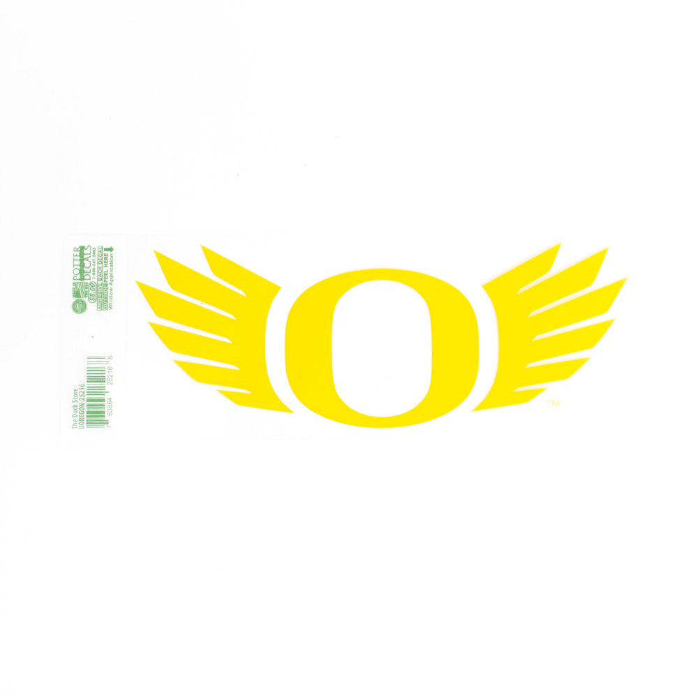 O-logo, WINGS, 7 inch, Decal, Outside Application, Yellow