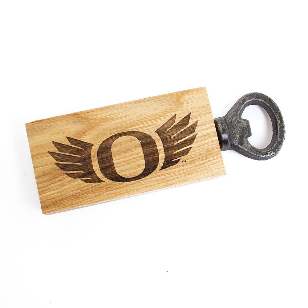 O-logo, WINGS, Barrel Stave, Bottle Opener, Magnetic back