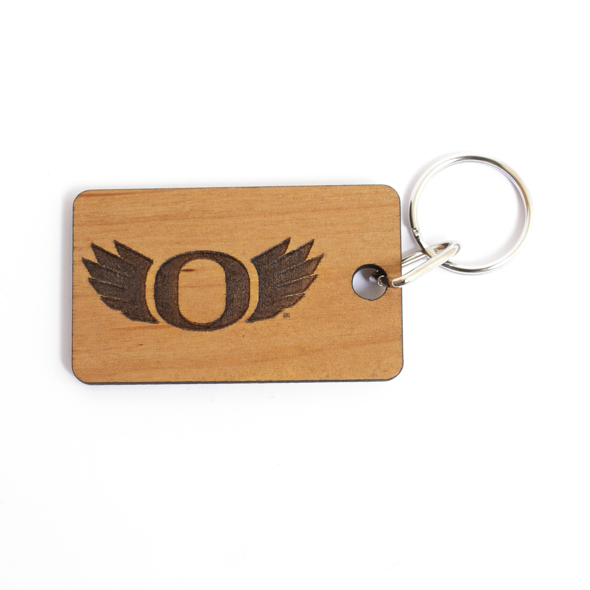 Classic Oregon O, Wood, Key Chain